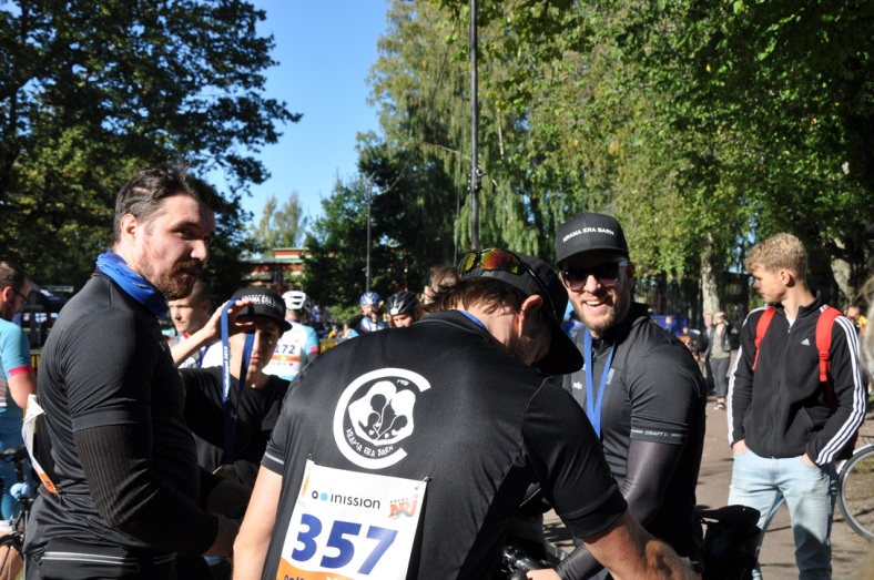 Niklas, Christian, David Krama era barn Klarälvsloppet